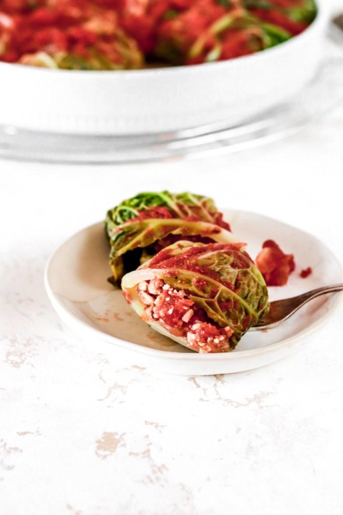 Stuffed Cabbage Rolls (Gluten & Grain Free, Low Carb, Paleo) From Inside