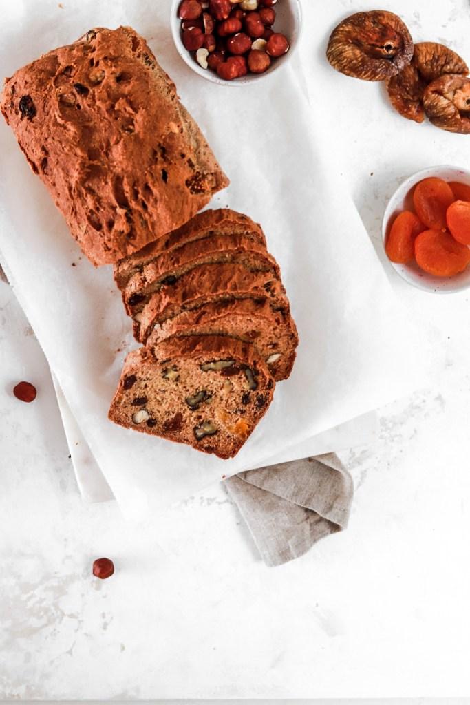 Nut & Fruit Bread (Gluten, Oil & Egg Free) From Above