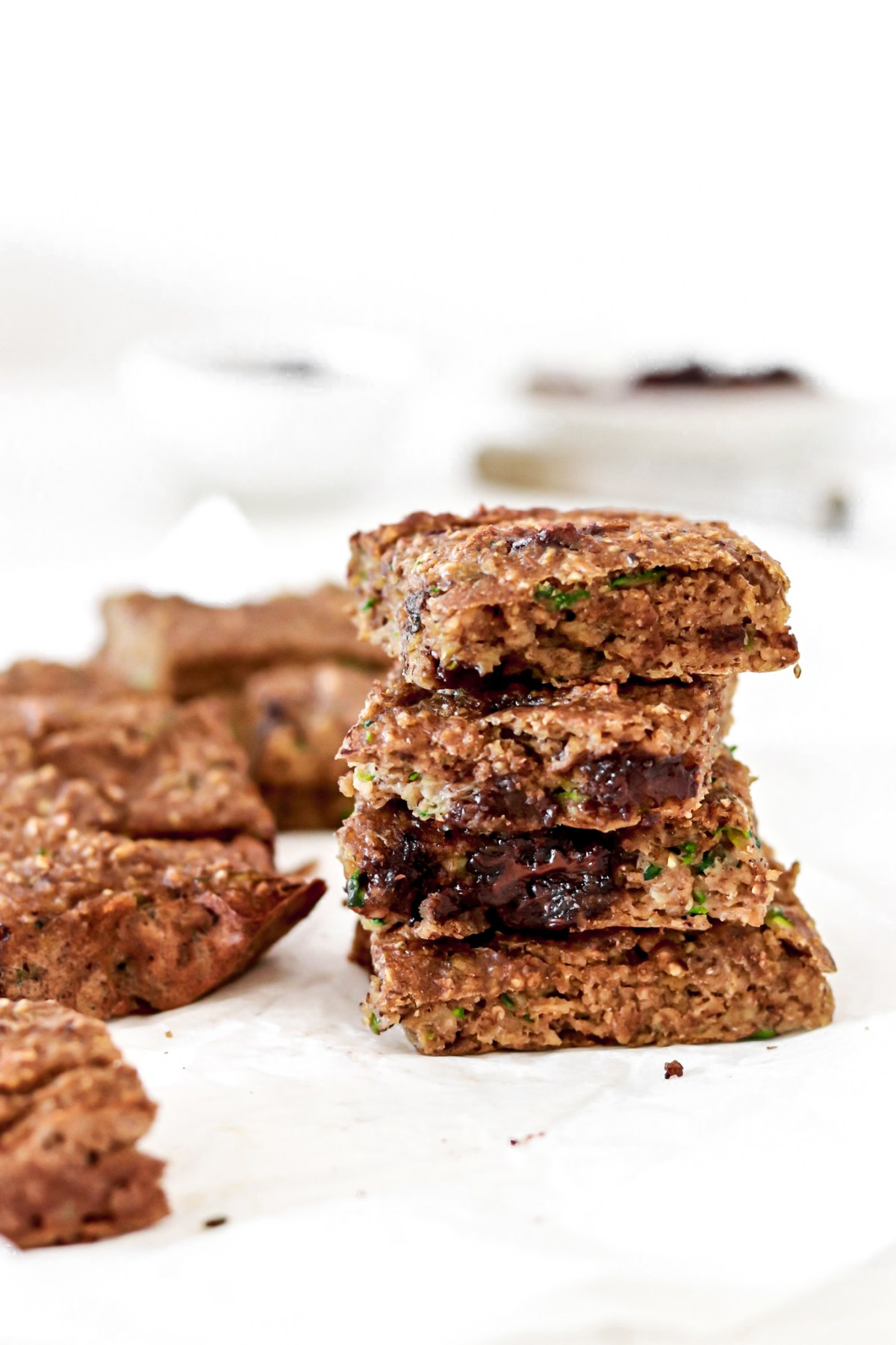 Healthy Zucchini & Banana Bars (Gluten, Dairy, Oil, Sugar Free, Vegan) From Close Up