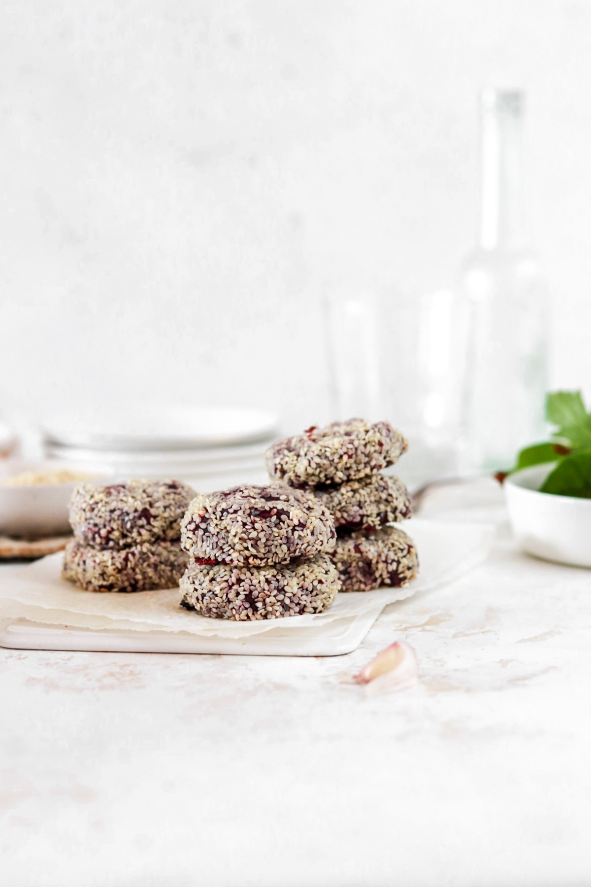 PurpleSweet Potato Patties (Vegan Friendly, Gluten, Dairy, Grain Free, Paleo) From Front