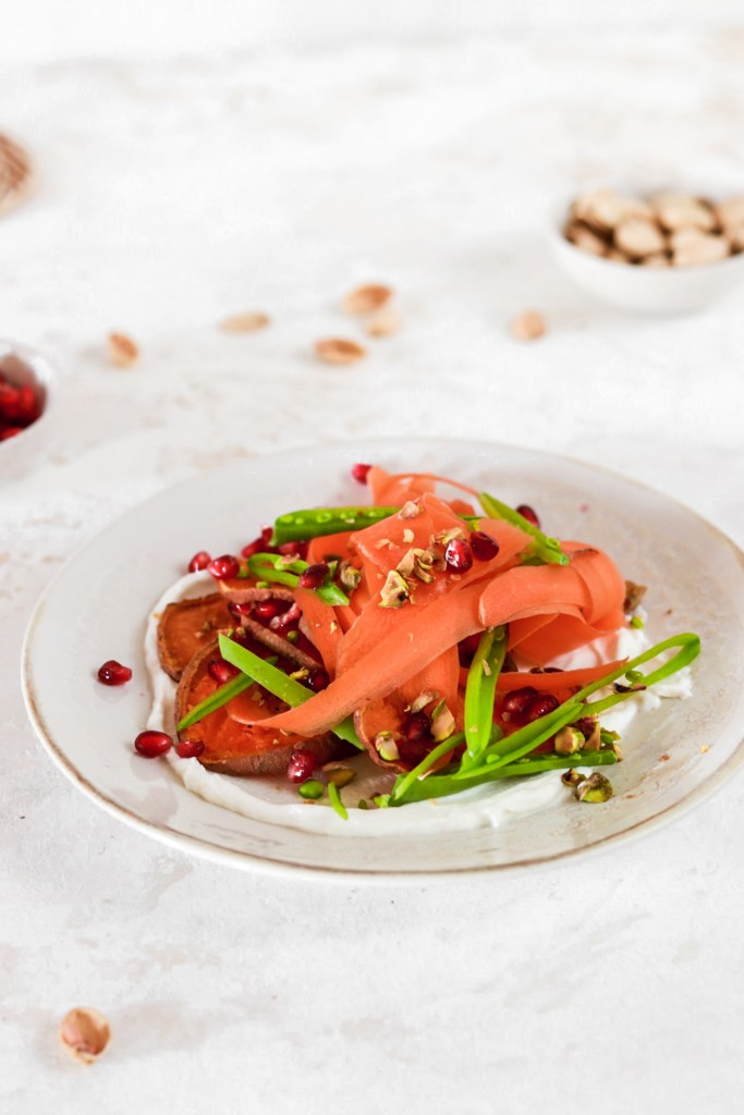 Shaved Carrot Salad (Vegan, Gluten Free, Low Carb) From Front