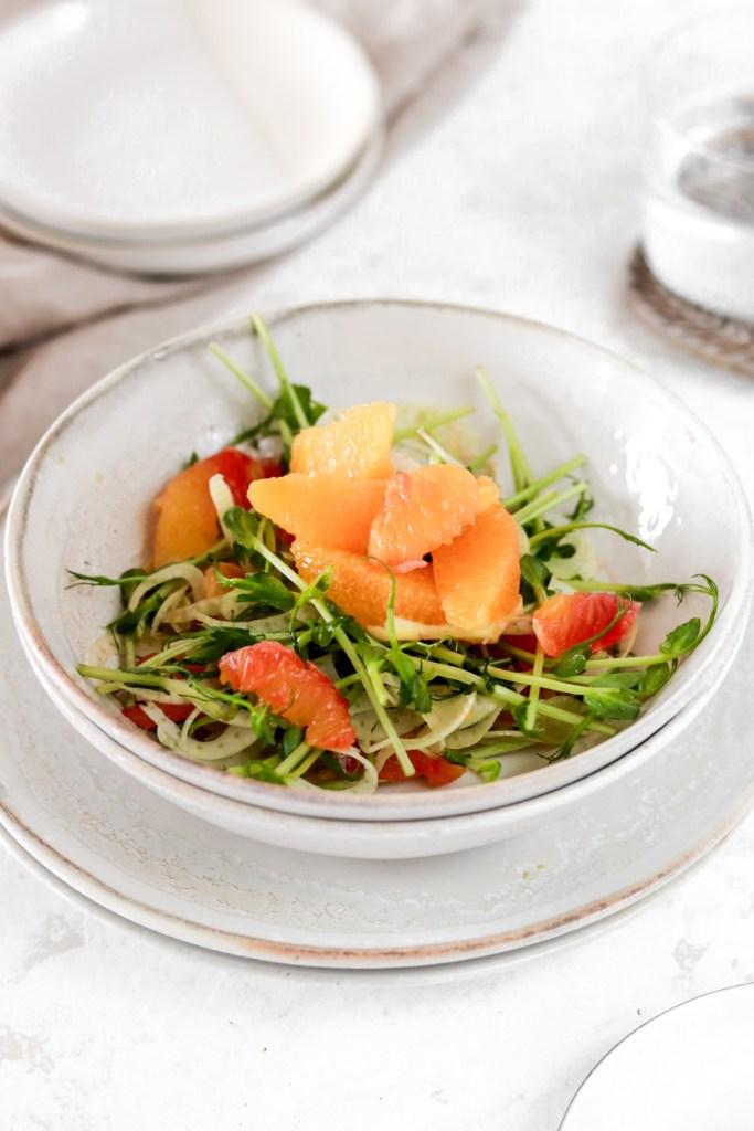 Orange & Fennel Salad From Front