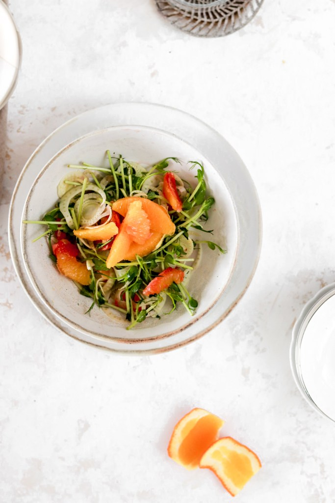 Orange & Fennel Salad From Above