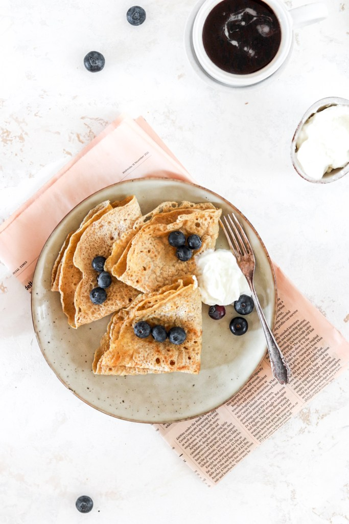 Swedish Pancakes (Gluten, Dairy, Sugar Free) From Above