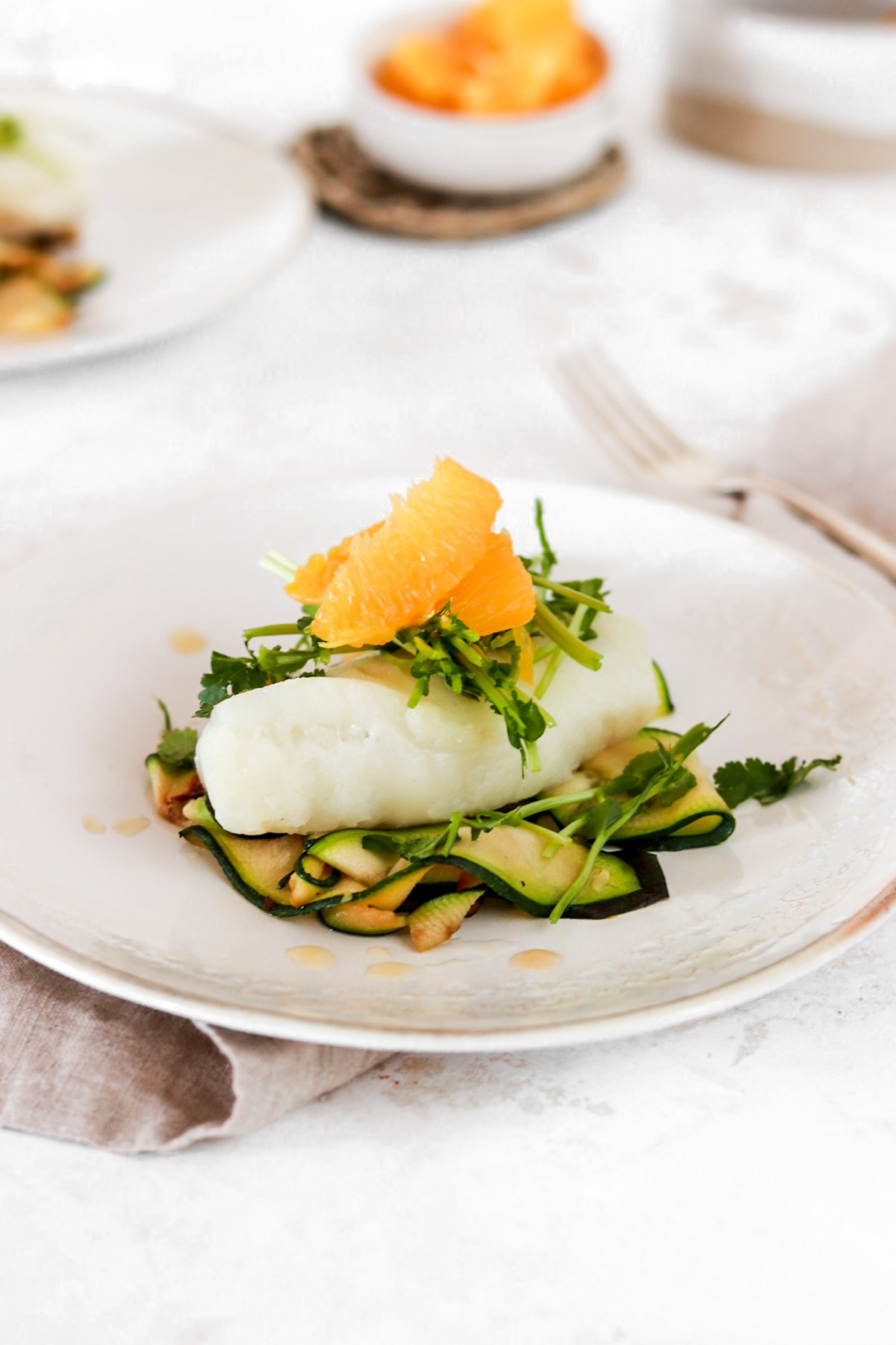 Low Carb Cod with Orange Dressing (Gluten, Grain, Dairy Free & Low Carb) From Close Up