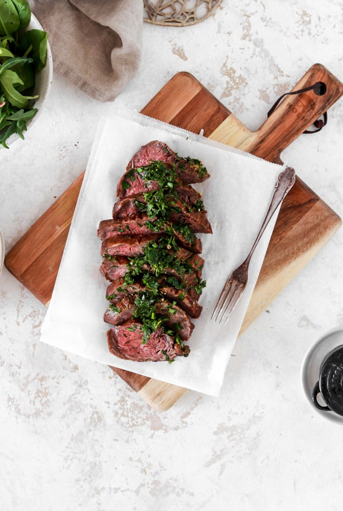 Double Marinated Beef Tenderloin From Above