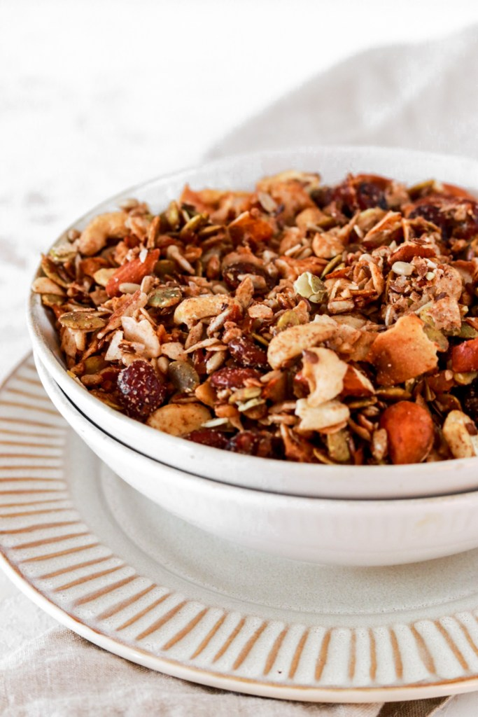 Grain Free Vanilla Coconut (Vegan, Gluten, Grain, Sugar Free & Low Carb) In a Bowl