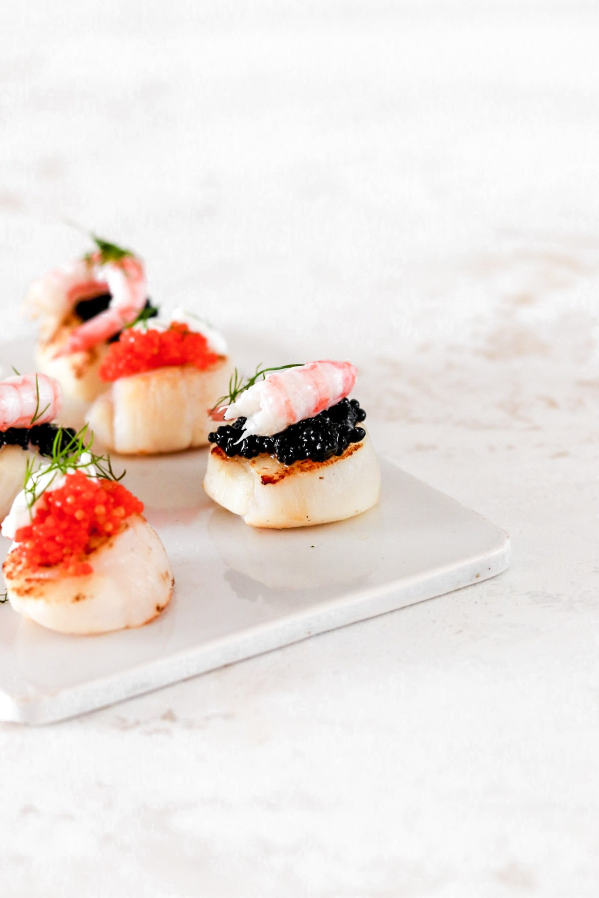 Scallop Bites with Caviar & Shrimps (Gluten, Grain Free & Low Carb) From Close Up