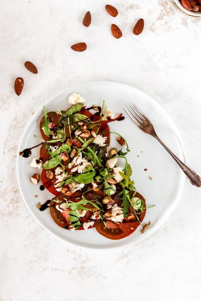 Tomato & Mozzarella Salad From Above