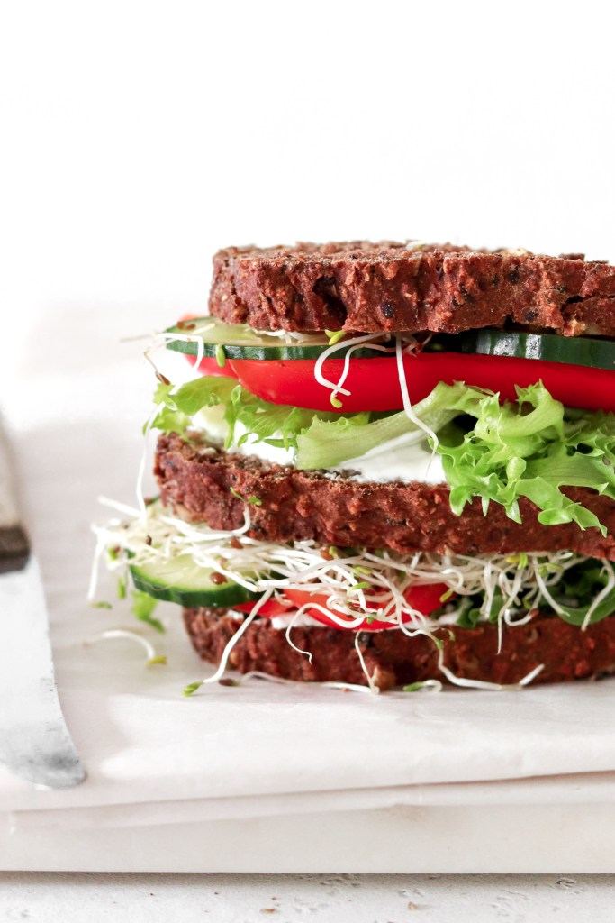 Cream Cheese & Vegetable Sandwich (Vegetarian & Gluten Free) From Close Up