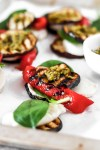 Grilled Vegetable Bites with Mozzarella & Pesto (Gluten, Grain Free & Low Carb) From Front
