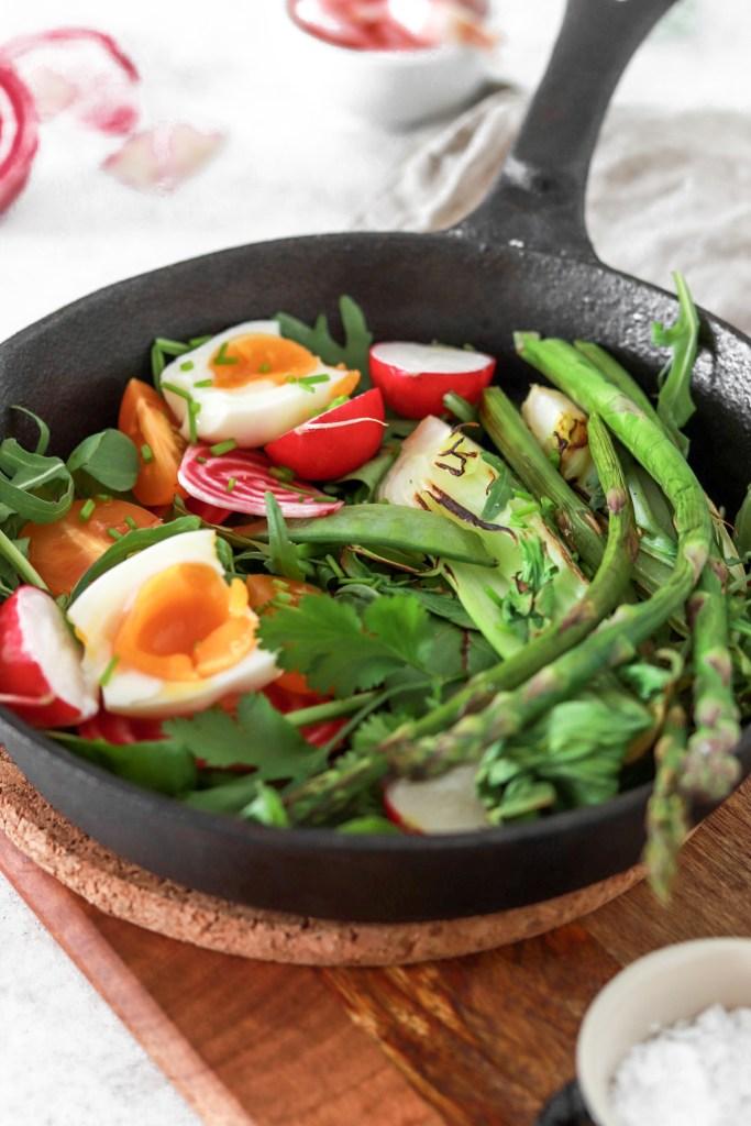 Summer Vegetable Salad (Vegetarian, Gluten, Grain Free & Low Carb) Close Up