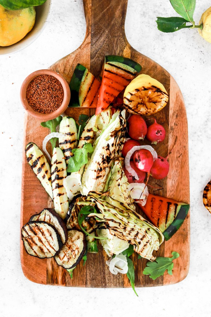 Grill Platter (Vegan, Gluten, Grain Free, Low Carb) From Above