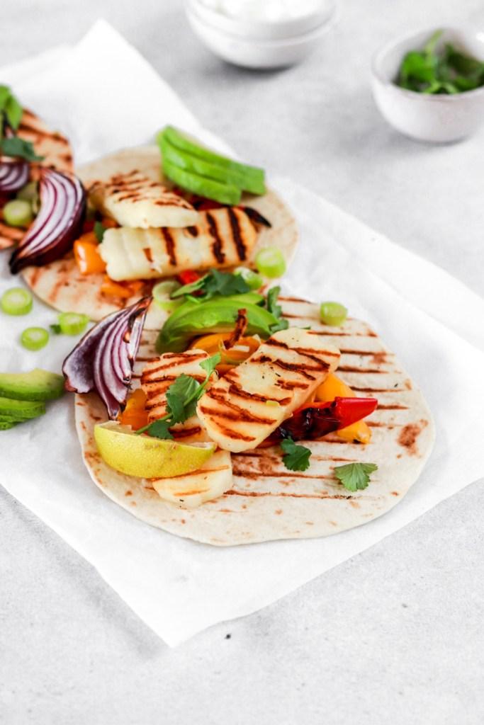 Halloumi Tacos (Vegetarian, Gluten & Grain Free) From Front