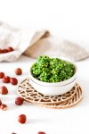 Hazelnut & Parsley Pesto (Gluten, Grain Free & Low Carb) Close Up From Front