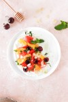 Summer Fruits with Yogurt (Vegan, Gluten, Grain, Sugar Free) From Above