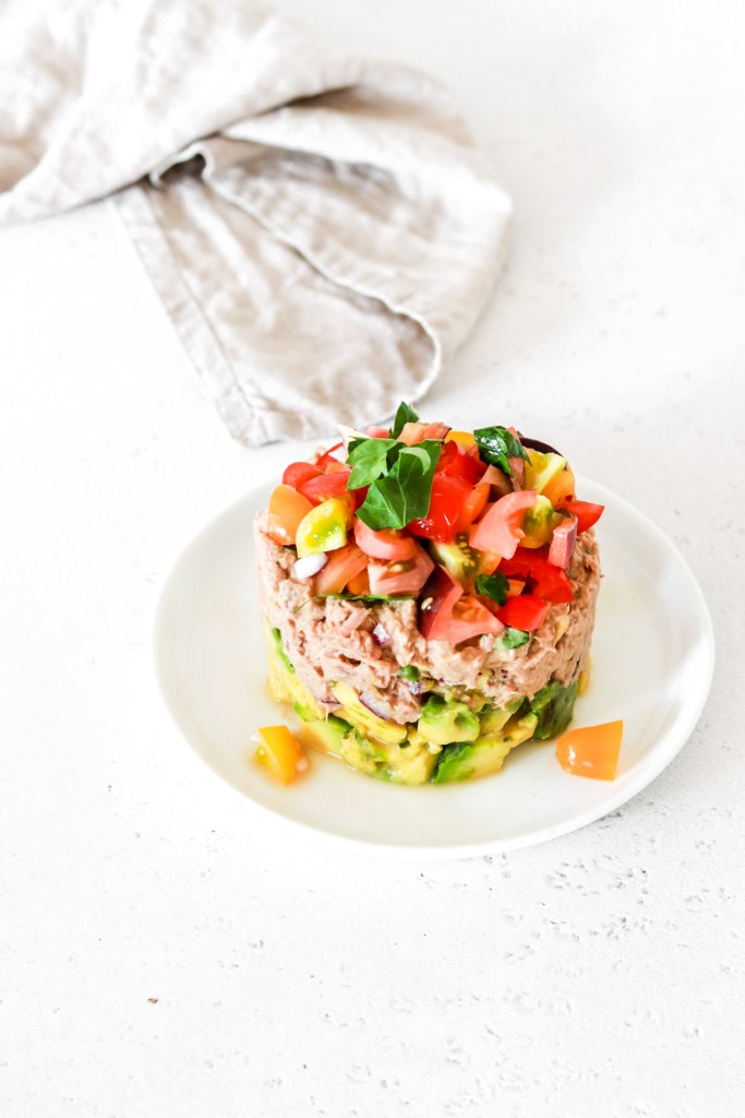 Canned Tuna Tartare (Gluten, Grain, Dairy, Oil Free & Low Carb) From Front