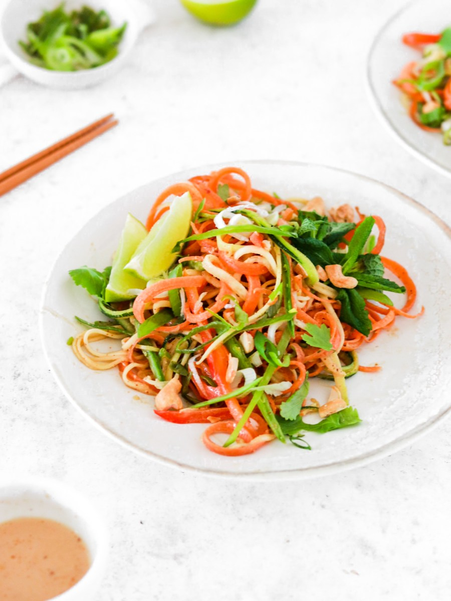 Raw Pad Thai (Vegan, Gluten, Grain Free & Low Carb) From Front