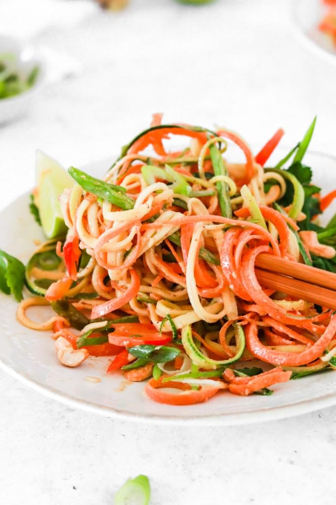 Raw Pad Thai (Vegan, Gluten, Grain Free & Low Carb) From Close Up