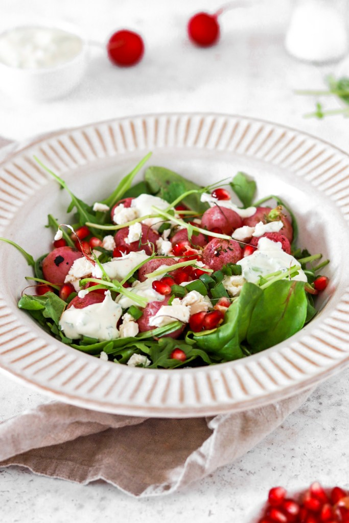 Roasted Radish Salad (Gluten, Grain & Low Carb) From Front
