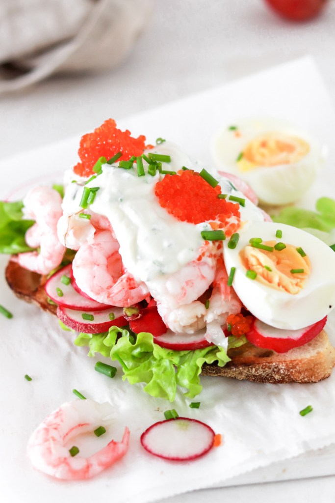 Swedish Shrimp Toast Close Up