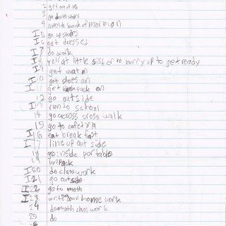 Nine-Year-old's to do list