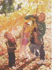 Nicole with kids