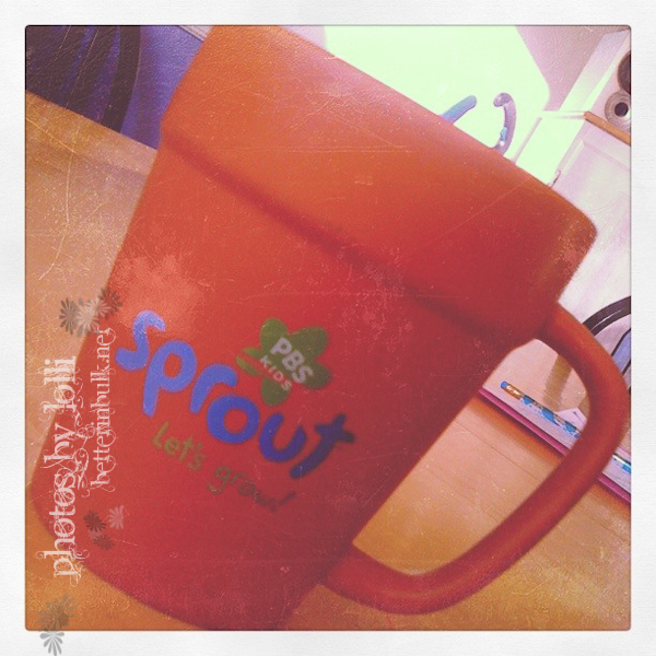 Sprout mug from Blogher10