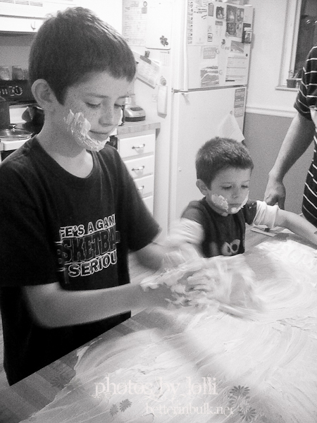 fun with shaving cream