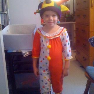 jester costume for Halloween