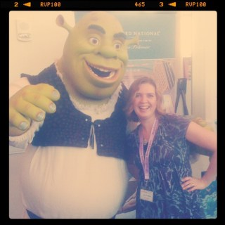 shrek and lolli at blogalicious