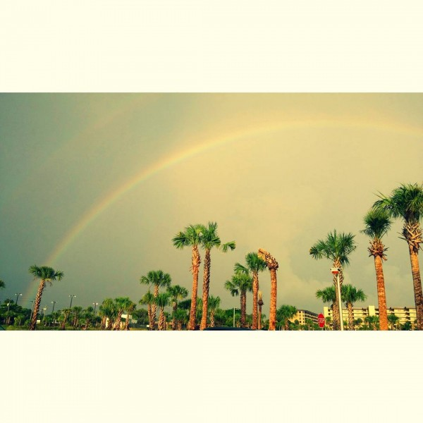 Double rainbow over Siesta Beach  #vacation #florida #siestakey