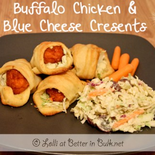 Buffalo Chicken and Blue Cheese Crescents