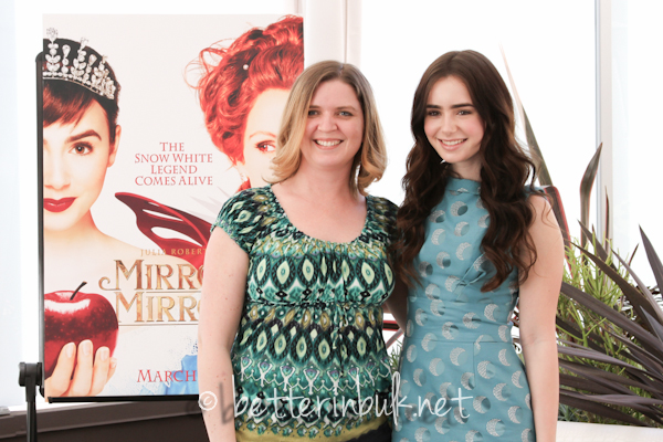 Mirror Mirror bloggers with Lily Collins