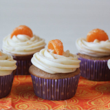 Orange spice cupcakes with orange buttercream frosting