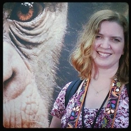 Lolli on the red carpet for Disneynature's Chimpanzee
