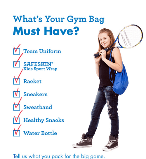 Gym bag check list