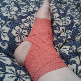 red sports wrap from Safeskin