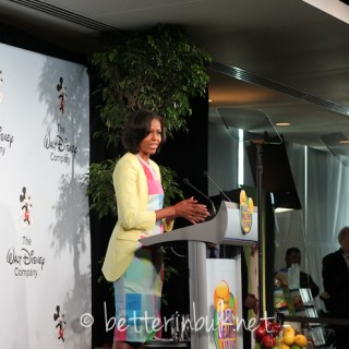 First Lady Michelle Obama at Disney Press conference