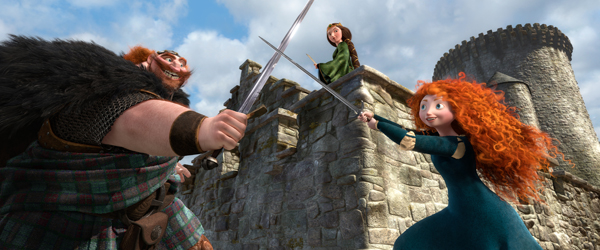 Brave - Merida and the King sword fighting
