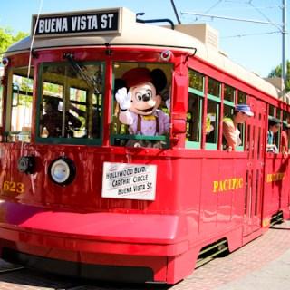 Buena Vista Street Disney California Adventure trolley