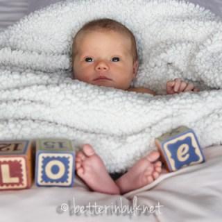 newborn LOVE shot