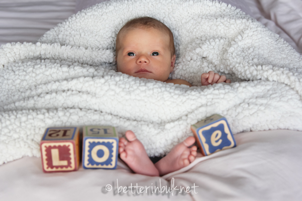 newborn LOVE shot