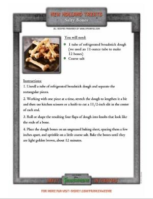 salty-bones Halloween recipe