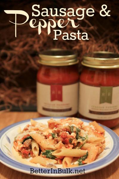 Rose romano s sausage and pepper pasta recipe for Romano italian kitchen