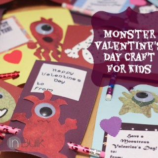 Monster Valentine's Day Cards Craft Tutorial #Printables