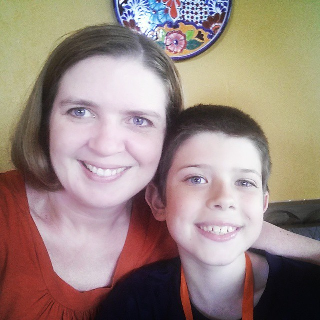 Happy birthday lunch #selfie with my new 10 year old! #CafeRio