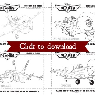 Disney's planes coloring pages collage
