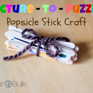 picture to puzzle popsicle stick craft