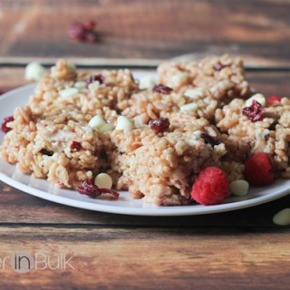 White Chocolate Red Berry Rice Krispie Treats